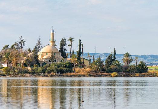 Hala Sultan Tekke Mosque in Larnaca, Cyprus