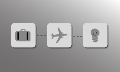 Simple Travel Vector Icons