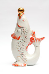 decanter in the form of fish