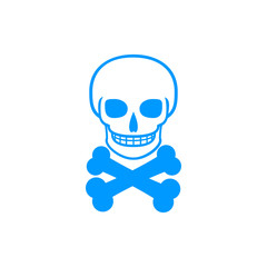 Skull icon isolated.