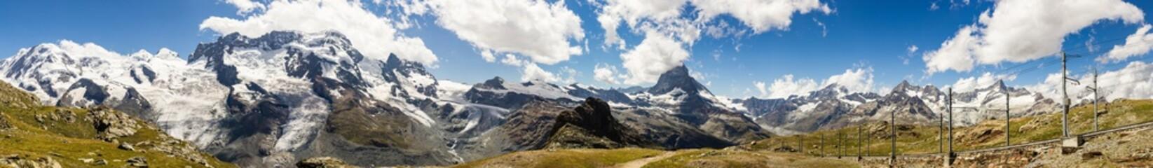 Obraz Panorama View of Pennine Alps - fototapety do salonu