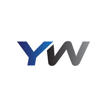 Simple Modern letters Initial Logo yw