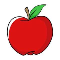 Cartoon Illustration Of An Apple