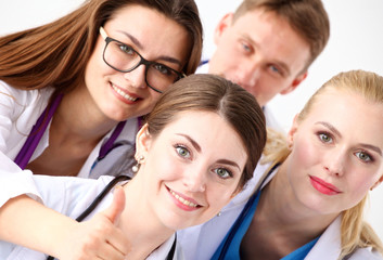 a team of young doctors