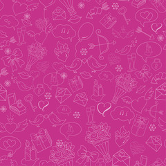Seamless background with Doodles sketch