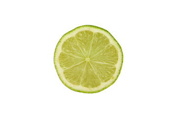 Slice of lime isolated
