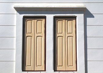 The vintage style wooden window