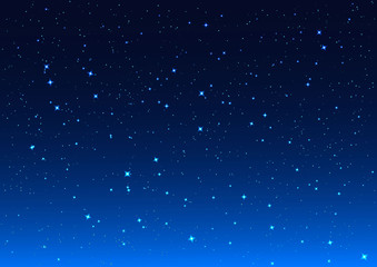 Night sky. Stars in night sky