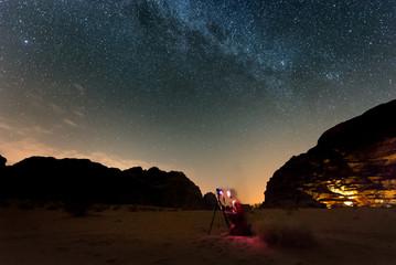 Photographer shooting stars.