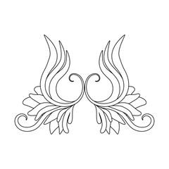 vector angel wings