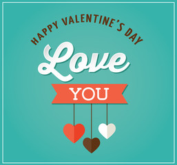 Valentine's day greeting card and poster