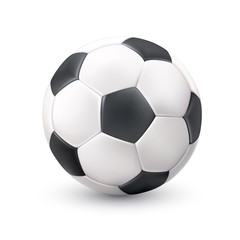 Soccer Ball Realistic White Black Picture