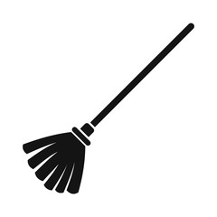 Broom black simple icon