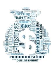 Business money bag word cloud concept 3