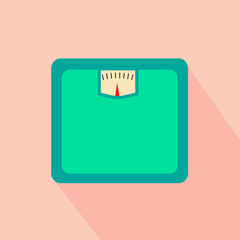 Retro flat design weight with shadow
