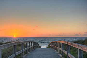 Fototapete - Strand Wasser