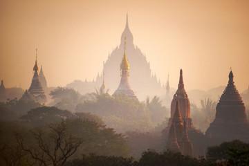 The plain of Bagan(Pagan), Mandalay, Myanmar. 2015