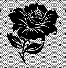 black lace pattern on white background