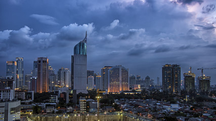 Wall Mural - Jakarta city panorama