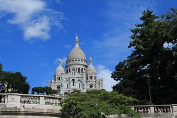 Zelfklevend Fotobehang Centraal Europa Basilique du sacré cœur à Paris, France