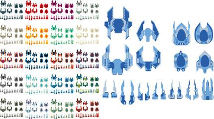 Vector Game Spaceship Creation Kit