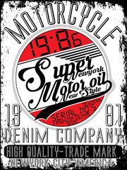 Motorcycle company typography, t-shirt graphics, vectors