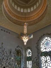 Interior of Sheikh Zayed Mosque, Abu Dhabi, United Arab Emirates.