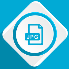 jpg file blue flat design modern icon for web and mobile app