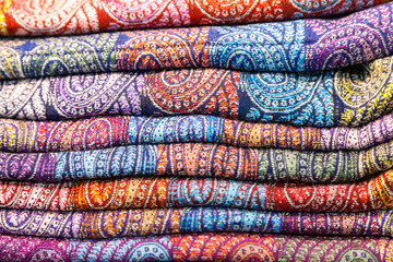 colored fabrics in the Indian market