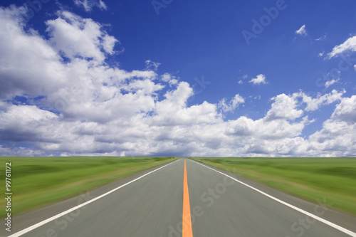 Wall mural Road to the cloud.