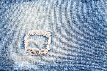 Patch blue jeans