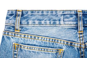 Back side of blue jeans