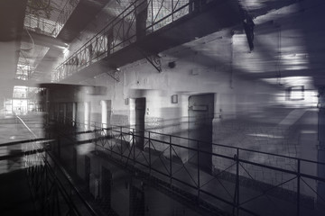 jail interior, fiction