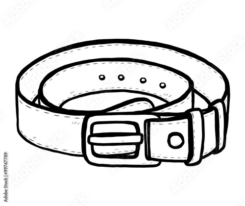 Horizontal Belt Fashion Coloring Pages Belt Of Coloring Page