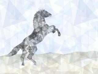 Geometric horse unicorn background