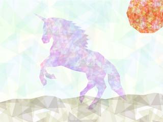 Geometric triangles unicorn background