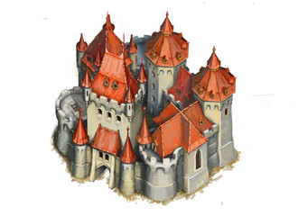 Burg Schloss Illustration