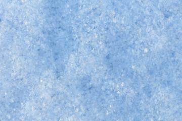 Snow surface closeup.