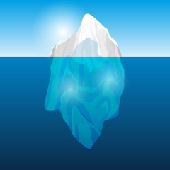 Iceberg in the ocean, vector