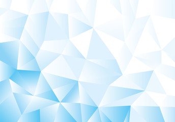 Blue geometric pattern, triangles background, polygonal design.