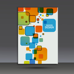 Vector brochure design layout template in A4