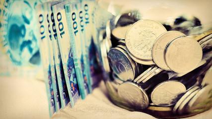 Money in a glass jar