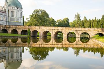 View of the 16 century castle in Krasiczynie Poland