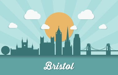 Wall Mural - Bristol skyline