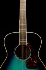 Guitar on black