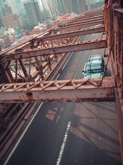 Car on the bridge