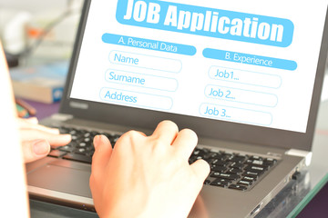 Job application online platform to search for a new work place