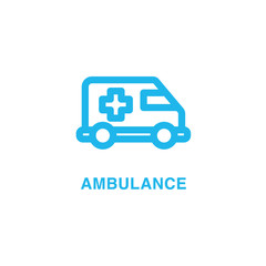 Ambulance vector icon