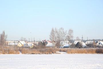 winter village snow land