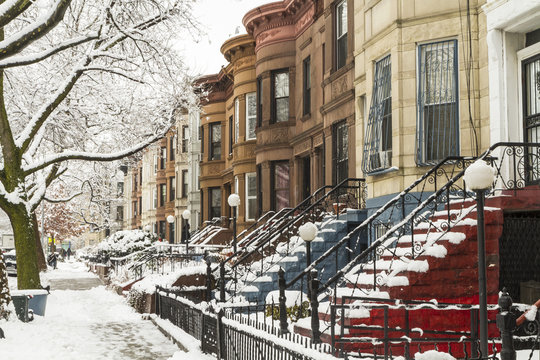 Colorful Stoops in the Snow
